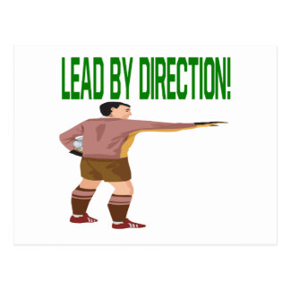 Lead By Direction Postcard