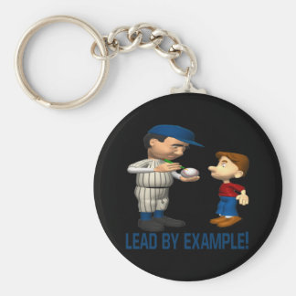 Lead By Example Basic Round Button Keychain
