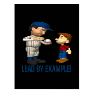 Lead By Example Postcard