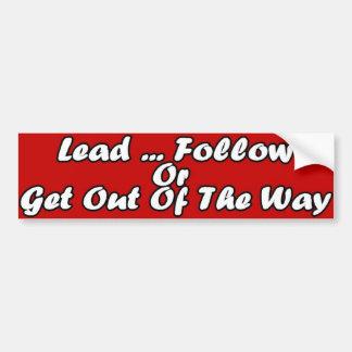 Lead Car Bumper Sticker