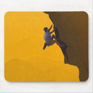 Lead Climb Rock Climber Illustration Mouse Pad