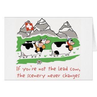 Lead Cow Greeting Card