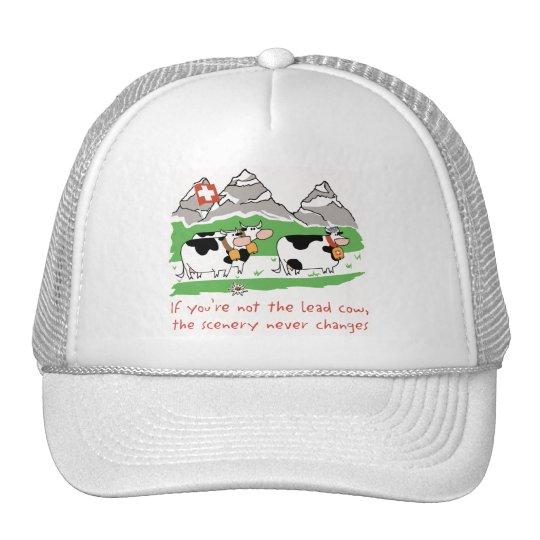 lead cow trucker hat