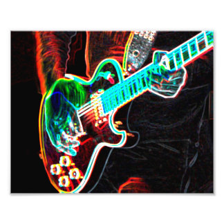 Lead Guitarist Photography Print