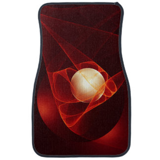 Lead Me Into Temptation, Abstract Red Fractal Art Car Floor Mat