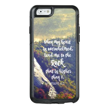 Lead Me To The Rock Bible Verse Otterbox Iphone 6/6s Case by Christian_Quote at Zazzle