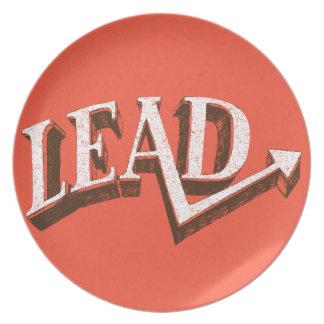 Lead Melamine Plate