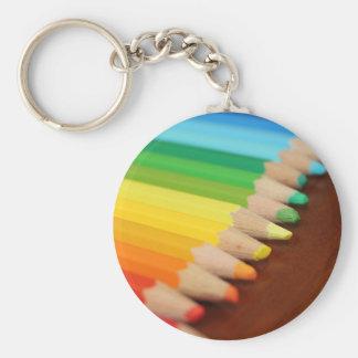 Lead Rainbow Basic Round Button Keychain