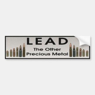Lead - The Other Precious Metal Car Bumper Sticker
