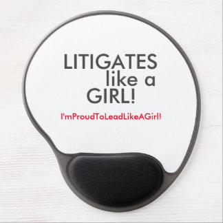 Lead with your law degree! gel mouse pad