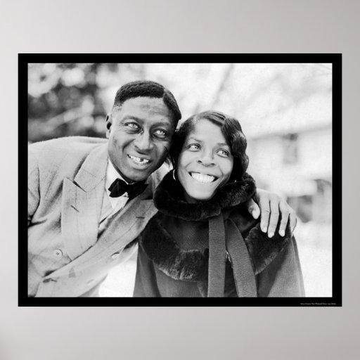 Leadbelly & Martha Ledbetter 1935 Print