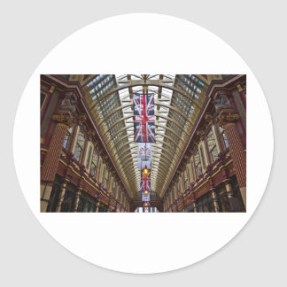Leadenhall Market London Classic Round Sticker