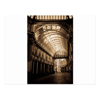 Leadenhall Market London sepia toned Postcard