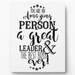 leader boss thank  you plaque