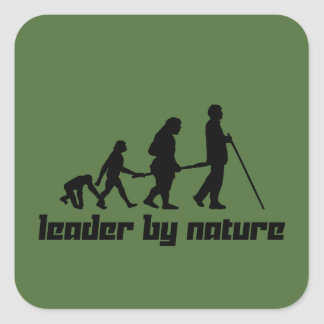 Leader by Nature Square Sticker