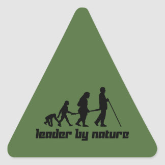 Leader by Nature Triangle Sticker