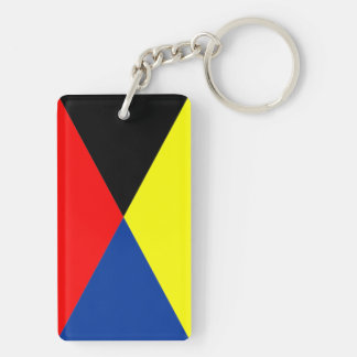 Leader flag and Z flag. If you mention flag boat Keychain