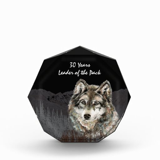 Leader of the Pack 30th Birthday Humor Wolf Thirty Acrylic Award