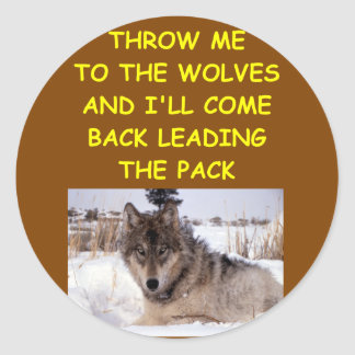 leader of the pack classic round sticker