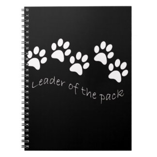 Leader of the Pack Dog Lover s Spiral Note Books