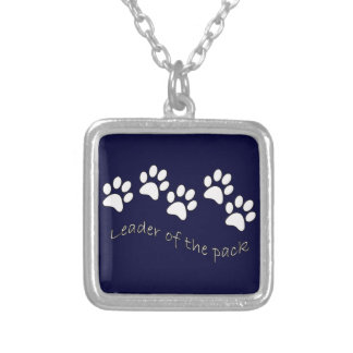 Leader of the Pack Dog Lover's Silver Plated Necklace