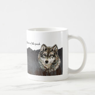 Leader of the Pack Father's Day Humor Wolf Animal Coffee Mug