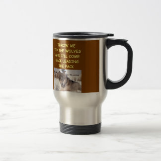 leader of the pack 15 oz stainless steel travel mug