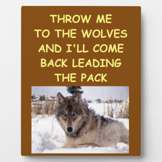 leader of the pack plaque