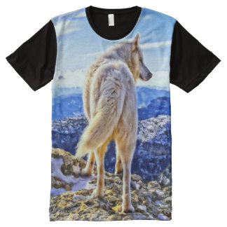 Leader of the Pack Wolf All Over Print Tshirt