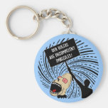 Leaders are incompetent imbeciles keychain