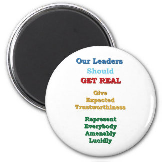 Leaders GET REAL 2 Inch Round Magnet