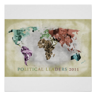 Leaders of 2011 by continent poster