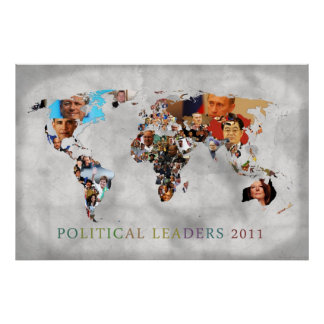 Leaders of 2011 in full color poster