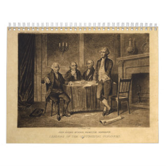 Leaders of the Continental Congress by A. Tholey Calendar