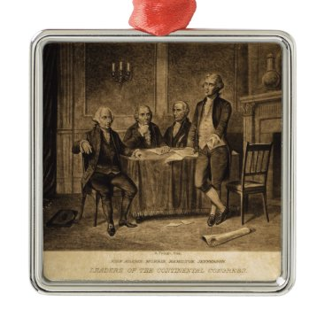 EnhancedImages Leaders of the Continental Congress by A. Tholey Metal Ornament