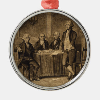Leaders of the Continental Congress by A. Tholey Metal Ornament