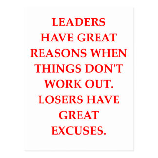 LEADERS POSTCARD