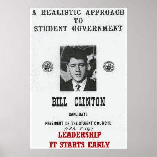 Leadership Bill Clinton at Georgetown University P Print