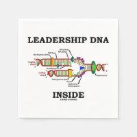 Leadership DNA Inside (Biology Attitude) Standard Cocktail Napkin
