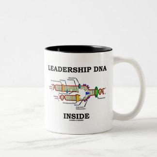 Leadership DNA Inside (DNA Replication) Two-Tone Coffee Mug