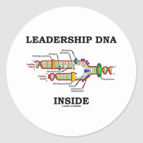 Leadership DNA Inside (DNA Replication) Stickers