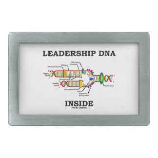 Leadership DNA Inside (Genetics Attitude) Rectangular Belt Buckles