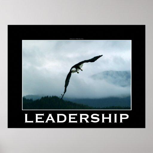 LEADERSHIP ~ Flying Bald Eagle Motivational Poster