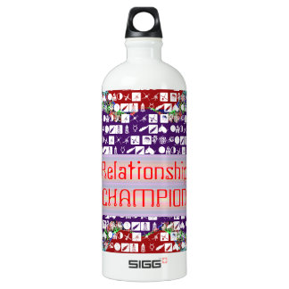 Leadership Giveaways : Editable Text n Text Color Aluminum Water Bottle