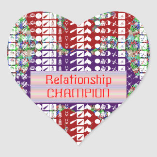 Leadership Giveaways : Editable Text n Text Color Heart Sticker