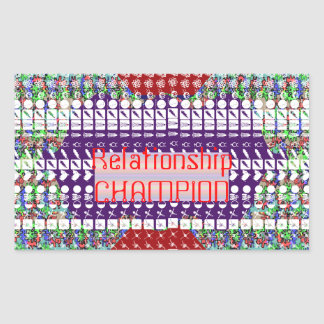 Leadership Giveaways : Editable Text n Text Color Rectangular Sticker