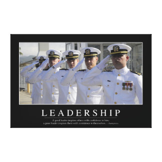 Leadership: Inspirational Quote Canvas Print