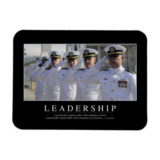 Leadership: Inspirational Quote Rectangular Photo Magnet