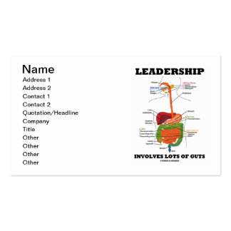 Leadership Involves Lots Of Guts (Anatomy) Business Card Template