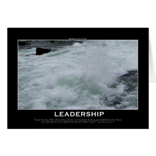 LEADERSHIP Motivational Card